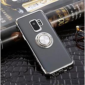 voordelige Galaxy S7 Hoesjes / covers-hoesje Voor Samsung Galaxy S9 / S9 Plus / S8 Plus Ringhouder / Ultradun / Transparant Achterkant Effen Zacht TPU