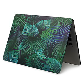 "cheap MacBook Air 11"" Cases-For MacBook Pro Air 11-15 Computer Case 2018 2017 2016 Released A1989 / A1706 / A1708 With Touch Strip PVC Pattern Hard Shell Palm Leaf"