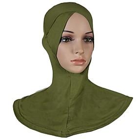 رخيصةأون إشاربات و لفات-حجاب لون سادة نسائي - متعدد الطبقات قطن, أساسي / كل الفصول