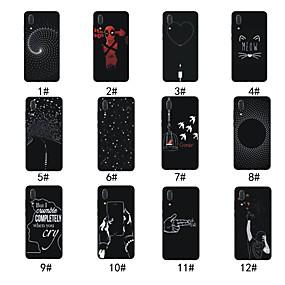 Недорогие Чехлы и кейсы для Huawei Mate-Кейс для Назначение Huawei Huawei P20 / Huawei P20 lite / P10 Lite Матовое / С узором Кейс на заднюю панель Полосы / волосы / С сердцем / Мультипликация Мягкий ТПУ / Mate 9 Pro