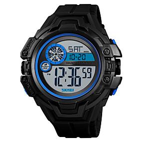 Недорогие Фирменные часы-SKMEI Муж. Спортивные часы Армейские часы электронные часы Цифровой На каждый день Будильник Стеганная ПУ кожа Черный / Зеленый Цифровой - Черный Красный Синий Один год Срок службы батареи