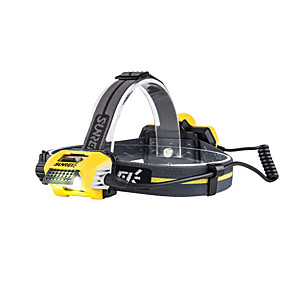 olcso Zseblámpák-Polo700 Fejlámpák biztonsági világítás 700 lm LED LED 1 Sugárzók 2 világítás mód akkuval Hordozható Könnyű Kempingezés / Túrázás / Barlangászat Mindennapokra Kerékpározás Sárga / IPX 6