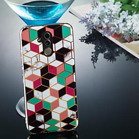 Недорогие Чехлы и кейсы для Huawei Mate-Кейс для Назначение Huawei Huawei Honor 10 / Huawei Honor 9 Lite / Huawei Honor 8X IMD / С узором Кейс на заднюю панель Мрамор Мягкий ТПУ