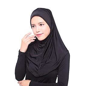 رخيصةأون إشاربات و لفات-حجاب لون سادة نسائي - متعدد الطبقات حرير الرايون, أساسي / كل الفصول