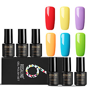 cheap Nail Care-ROSALIND Gel Polish Set 7 ml 6 pcs Trendy / Glamour Soak off Long Lasting  Engagement / Date / Professional Trendy / Glamour