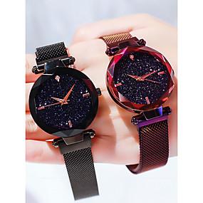 ieftine Cuarț ceasuri-Pentru femei Ceasuri de lux Ceas de Mână Quartz femei Rezistent la Apă Analog Roz auriu Negru Mov / imitație de diamant