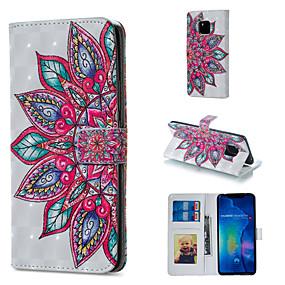 Недорогие Чехлы и кейсы для Huawei Mate-Кейс для Назначение Huawei Huawei Honor 10 / Huawei Honor 8X / Honor 7A Кошелек / Бумажник для карт / со стендом Чехол Мандала Твердый Кожа PU