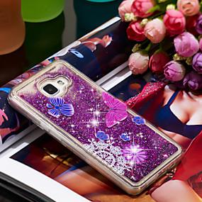 voordelige Galaxy A5(2016) Hoesjes / covers-hoesje Voor Samsung Galaxy A5(2016) Schokbestendig / Glitterglans Achterkant Vlinder / Glitterglans Zacht TPU