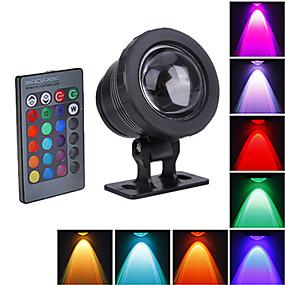 olcso LED projektorok-1db 10 W 800 lm LED gyöngyök Vízálló RGB 12 V