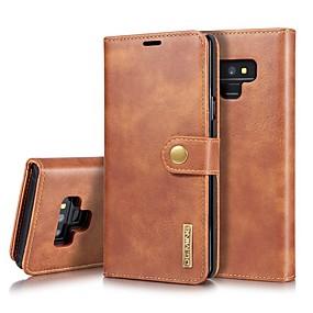 Недорогие Чехлы и кейсы для Galaxy Note 8-Кейс для Назначение SSamsung Galaxy Note 9 / Note 8 Бумажник для карт / Защита от удара / со стендом Чехол Однотонный Твердый Настоящая кожа