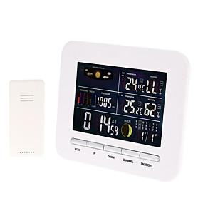 رخيصةأون آلات الحرارة-ts-76 محطة الطقس بارومتر اللاسلكية الحرارية الرطوبة