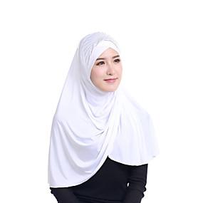 رخيصةأون إشاربات و لفات-حجاب لون سادة نسائي - ترتر حرير الرايون, أساسي / كل الفصول