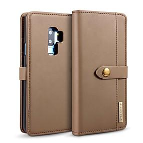 voordelige Galaxy S7 Edge Hoesjes / covers-hoesje Voor Samsung Galaxy S9 / S9 Plus / S8 Plus Kaarthouder / Schokbestendig / met standaard Volledig hoesje Effen Hard aitoa nahkaa