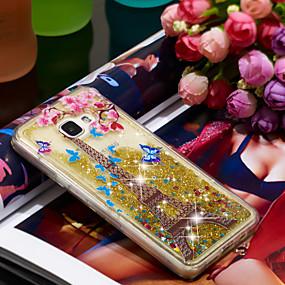 voordelige Galaxy A5(2016) Hoesjes / covers-hoesje Voor Samsung Galaxy A5(2016) Schokbestendig / Glitterglans Achterkant Eiffeltoren / Glitterglans Zacht TPU