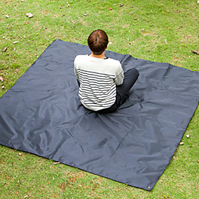 olcso Kemping bútorok-Jungle King Piknik párna Külső Könnyű Kopásgátló Párásodás gátló Oxford szövet 200*200 cm Kemping Piknic Minden évszak Fekete