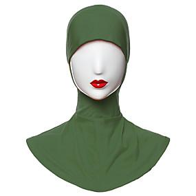 رخيصةأون إشاربات و لفات-حجاب لون سادة نسائي - منفصل بوليستر, أساسي / كل الفصول