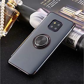 Недорогие Чехлы и кейсы для Huawei Mate-Кейс для Назначение Huawei Huawei P20 / Huawei P20 Pro / Huawei P20 lite Кольца-держатели / Ультратонкий / Прозрачный Кейс на заднюю панель Однотонный Мягкий ТПУ