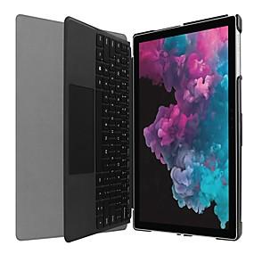 Недорогие Чехол для других планшетов-Кейс для Назначение Microsoft Surface Go Surface Pro 4 / Surface Pro 3/4/5 Защита от удара / со стендом / С узором Чехол Пейзаж / Мультипликация / Эйфелева башня Твердый Кожа PU