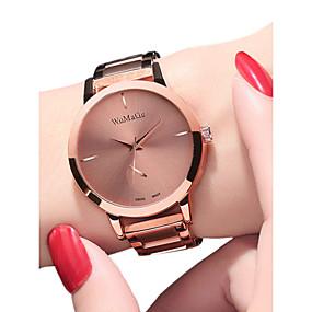 ieftine Cuarț ceasuri-Pentru femei Ceasuri de lux Ceas de Mână Quartz femei Rezistent la Apă Analog Roz auriu Negru Auriu / Oțel inoxidabil