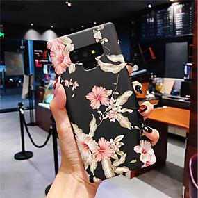 Недорогие Чехлы и кейсы для Galaxy Note 8-Кейс для Назначение SSamsung Galaxy Note 9 / Note 8 Сияние в темноте / Матовое Кейс на заднюю панель Цветы Твердый ПК