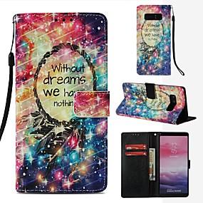 Недорогие Чехлы и кейсы для Galaxy Note 8-Кейс для Назначение SSamsung Galaxy Note 8 Кошелек / Бумажник для карт / Флип Чехол Ловец снов Твердый Кожа PU