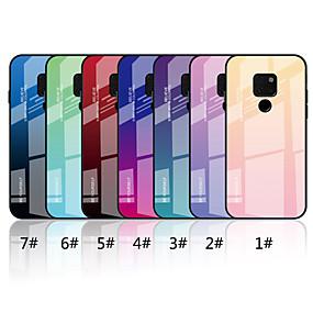Недорогие Чехлы и кейсы для Huawei Mate-Кейс для Назначение Huawei Mate 10 lite / Huawei Mate 20 lite / Huawei Mate 20 pro Зеркальная поверхность / С узором Кейс на заднюю панель Градиент цвета Твердый Закаленное стекло