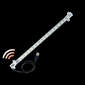 olcso Fénycsövek-zdm® 1pc 0,33m vízálló emberi test indukciós led világos sávok 5050 smd hideg fehér / meleg fehér / test érzékelő / új design / usb powered dc5v