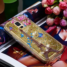voordelige Galaxy S7 Hoesjes / covers-hoesje Voor Samsung Galaxy S7 Schokbestendig / Glitterglans Achterkant Eiffeltoren / Glitterglans Zacht TPU