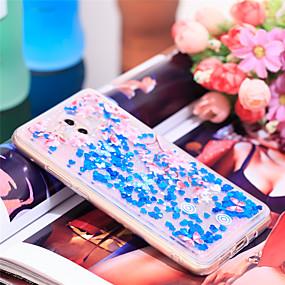 Недорогие Чехлы и кейсы для Huawei Mate-Кейс для Назначение Huawei Mate 10 Защита от удара / Сияние и блеск Кейс на заднюю панель Сияние и блеск / Цветы Мягкий ТПУ