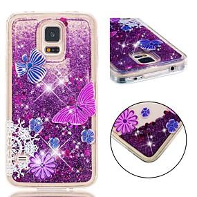 voordelige Galaxy S7 Hoesjes / covers-hoesje Voor Samsung Galaxy S7 Schokbestendig / Glitterglans Achterkant Vlinder / Glitterglans Zacht TPU