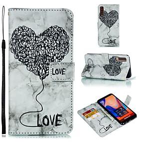 Недорогие Чехлы и кейсы для Galaxy Note 8-Кейс для Назначение SSamsung Galaxy S9 / S9 Plus / S8 Plus Кошелек / Бумажник для карт / Флип Чехол С сердцем / Мрамор Мягкий Кожа PU