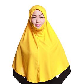 رخيصةأون إشاربات و لفات-حجاب لون سادة نسائي - متعدد الطبقات بوليستر, أساسي / كل الفصول