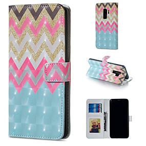 voordelige Galaxy S7 Hoesjes / covers-hoesje Voor Samsung Galaxy S9 / S9 Plus / S8 Plus Portemonnee / Kaarthouder / met standaard Volledig hoesje Lijnen / golven Hard PU-nahka