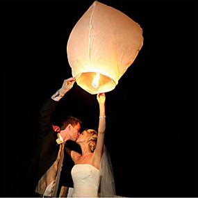 cheap Holiday & Party Decorations-10Pcs/Set Multi Color High Quality Chinese Lantern Fire Sky Fly Candle Lamp For Birthday Wedding Party Lantern Wish Lamp Sky Lanterns