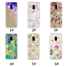 Недорогие Чехлы и кейсы для Galaxy A3(2016)-Кейс для Назначение SSamsung Galaxy A6 (2018) / A6+ (2018) / Galaxy A7(2018) С узором Кейс на заднюю панель Цветы Мягкий ТПУ