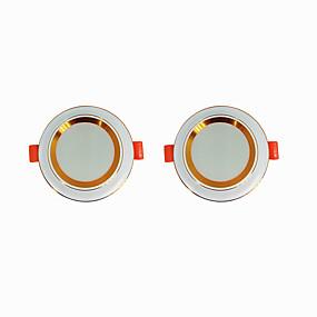 olcso Beépíthető-2pcs 5 W 360 lm 20 LED gyöngyök Könnyű beszerelni Süllyesztett kapcsolók LED mélysugárzók Meleg fehér Hideg fehér 220-240 V Otthon / iroda Nappali / ebédlő / CE