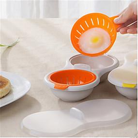 billige Kjøkken og matlaging-mikrobølgeovn egg poacher kokekar dobbelt kopp dual hule egg komfyr egg poaching kopper