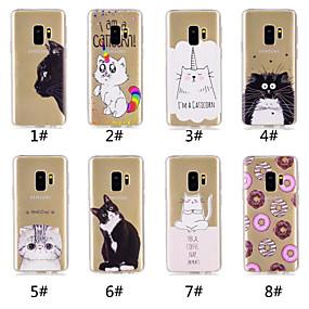 voordelige Galaxy S7 Edge Hoesjes / covers-hoesje Voor Samsung Galaxy S9 / S9 Plus / S8 Plus Patroon Achterkant Kat / Voedsel / Cartoon Zacht TPU
