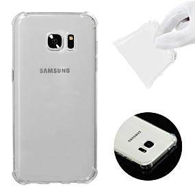 voordelige Galaxy S7 Edge Hoesjes / covers-hoesje Voor Samsung Galaxy S7 edge Schokbestendig / Transparant Achterkant Effen Zacht TPU