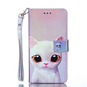 Недорогие Чехлы и кейсы для Galaxy Note 8-Кейс для Назначение SSamsung Galaxy Note 9 / Note 8 Кошелек / Бумажник для карт / Защита от удара Чехол Кот Твердый Кожа PU