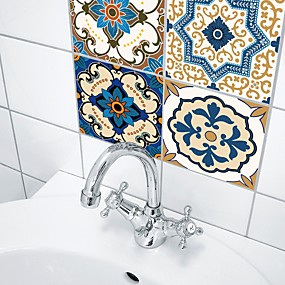 저렴한 장식 스티커-데코레이티브 월 스티커 - 3D 월 스티커 추상적인 / 모양 화장실 / 주방