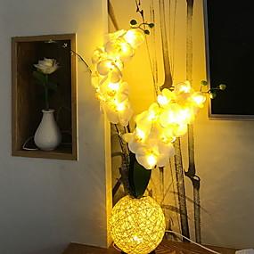رخيصةأون مصابيح ليد مبتكرة-1PC الصمام ليلة الخفيفة أبيض دافئ دس بالطاقة / USB سهل الحمل 5 V