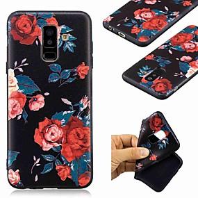 Недорогие Чехлы и кейсы для Galaxy A5(2016)-Кейс для Назначение SSamsung Galaxy A6 (2018) / A6+ (2018) / Galaxy A7(2018) С узором Кейс на заднюю панель Цветы Мягкий ТПУ