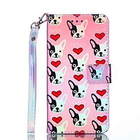 Недорогие Чехлы и кейсы для Galaxy Note 8-Кейс для Назначение SSamsung Galaxy Note 9 / Note 8 Кошелек / Бумажник для карт / Защита от удара Чехол С собакой Твердый Кожа PU