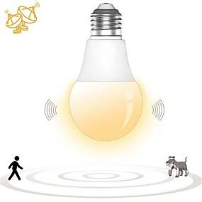 olcso LED okos izzók-1db e27 led mikrohullámú radar mozgás környezeti érzékelő fénylámpa izzó intelligens izzó folyosó garázs udvarra ac180-240v