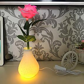 저렴한 LED 아이디어 조명-1 개 LED 밤 빛 따뜻한 화이트 AA 배터리 구동 / USB 창조적 <5 V
