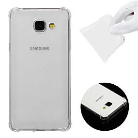 Недорогие Чехлы и кейсы для Galaxy A5(2016)-Кейс для Назначение SSamsung Galaxy A5(2016) Защита от удара / Прозрачный Кейс на заднюю панель Однотонный Мягкий ТПУ