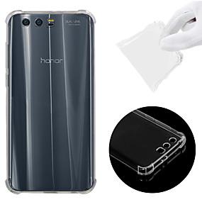 voordelige Huawei Honor hoesjes / covers-hoesje Voor Huawei Honor 9 Schokbestendig / Transparant Achterkant Effen Zacht TPU