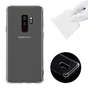 olcso Galaxy S9 Plus tokok-Case Kompatibilitás Samsung Galaxy S9 Plus Ütésálló / Átlátszó Fekete tok Egyszínű Puha TPU