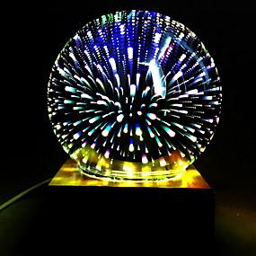 رخيصةأون مصابيح ليد مبتكرة-1PC الصمام ليلة الخفيفة تغيير اللون إبداعي / كوول <=36 V